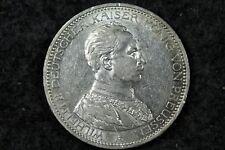 New listing 1914 - A German 3 Drei Mark Coin Deutsches Reich Silver aUnc frank! #H5675