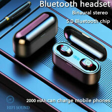 Bluetooth 5.0 Headset TWS Wireless Earphones Mini Earbuds Stereo Buds Air F9 BLK