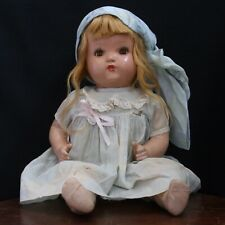 Vintage Antique Composition HORSMAN Mama Doll Baby - Sweet Old Girl w/ Dress