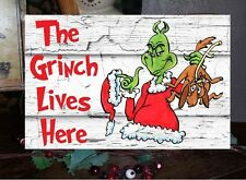 Christmas Sign The Grinch Lives Here
