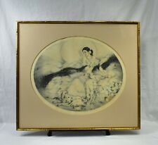Louis Icart 1927 Aquatint Etching Lady of The Camellias Framed