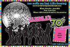 70s Invitation Birthday DISCO 70s Party Invite YOU PRINT Digital File 1970's