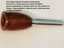 Custom 3X Deep Double cup Symphonic Trumpet Hybrid Wood mouthpiece