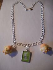 Framed 'Happy Easter' picture and chicks  charm necklace