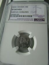 Canada 1858 10 cents NGC Graded XF Details