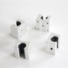4Pcs SBR12UU 12mm Aluminum Open Linear Motion Bearing Slide Unit for Linear Rail