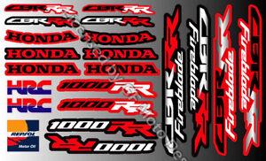 Honda CBR1000RR Motorrad Aufkleber Stickers 50 Years HRC CBR 1000RR 08 09 /98 99
