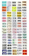 1/25 scale model car assorted USA 30 day temporary license plates state tags