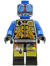 LEGO UFO BLUE DROID MINIFIG Space minifigure from set 6975 sp043