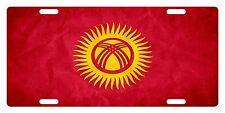Kyrgyzstan Flag Custom License Plate NATIONAL Emblem PAPER Version