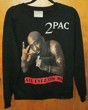 2013 Tupac Shakur All Eyez On Me Graphic Men's Black Sweatshirt M 2PAC HIP-HOP