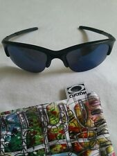 NEW OAKLEY HALF JACKET SI MATTE BLACK WITH BLUE IRIDIUM LENSES