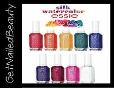 Essie Nail Polish 2015 Silk Watercolor 9 pc Collection Full Size FREE SHIP