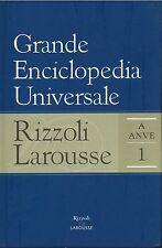 GRANDE ENCICLOPEDIA UNIVERSALE RIZZOLI-LAROUSSE VOL. 1 A-ANVE