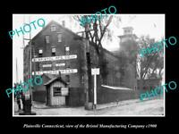OLD LARGE HISTORIC PHOTO OF PLAINFIELD CONNECTICUT, THE BRISTOL MILL Co c1900