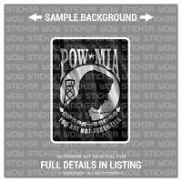 Decal Sticker Vinyl - POW MIA (x2) 3x5 - FABRIC