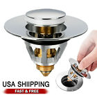 Stainless Steel Bounce Core Push-Type Converter Drain Filter Bathroom Quality US