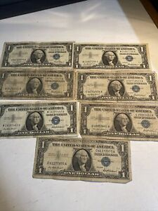 LOT of 1957 $1 Silver Cerificates - Blue Seal - AS PICTURED