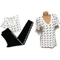 NWT Victorias Secret PINK Graphic Vneck Tshirt Tee Leggings Pants Set Size Small