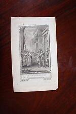 ✒ ca.1770 gravure VOLTAIRE Tancrède