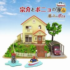 Paper Craft Sankei MK07-08 Ghibli Ponyo On A Cliff By The Sea 1/150