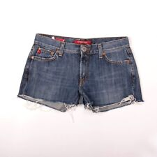 Guess Jeans Malibu Five Pocket Denim Zip Fly Frayed Micro Shorts 26 UK10 SUPER!