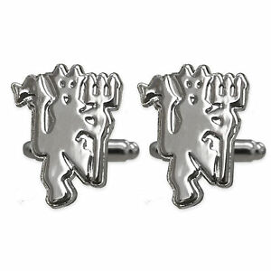 Manchester United Mens Cufflinks Chrome Executive OFFICIAL Football Gift