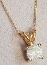 SPECIAL OFFER NEW 9CT GOLD 0.50CT DIAMOND SOLITAIRE PENDANT WITH NECKLACE...