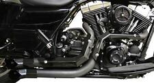 LA Choppers Black Fusion Exhaust for 1995-2016 Harley Touring Models LA-F100-00B