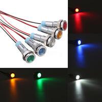 1/2/5Pcs 12V 6mm LED Indicator Light Lamp Bulb Pilot Dash Panel Car Truck Boat