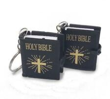 Bible English Keychains Christian Jesus Religious HOLY BIBLE Simulation Mini 1pc