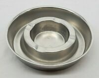 VINTAGE INTERNATIONAL STAINLESS Alessi 18/8 SS Ashtray Made in Italy #4053