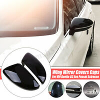 2 REAR VIEW DOOR WING MIRROR COVER FOR VW BEETLE CC EOS PASSAT JETTA