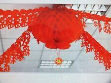 2 CHINESE RED 24cm PVC PARTY LANTERN 2x2M BUNTING WEDDING BIRTHDAY SHOP JAPANESE
