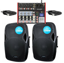 Kam RZ15A 2400W Active PA System With USB Bluetooth Mixer Ideal 4 Bands DJ Disco