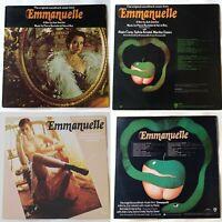 2x Emmanuelle soundtracks (VG+) UK 1974 Pierre Bachelet & Hervé Roy. Jazz lounge