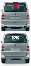 AC DC / ACDC / AC / DC - Aufkleber, Sticker - 50 cm, Farbe rot oder weiss