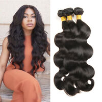 3Bundles Brazilian Body Wave Hair Weft 100% Virgin Human Hair Extensions Weave