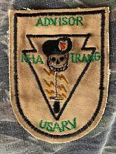 Vietnam War 5th Special Forces MACV SOG Green Beret Nha Trang Advisor Patch