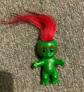 Vintage Green Moon Goon Doll Pink Hair 60's Toy Figure Troll 1964 L Khem