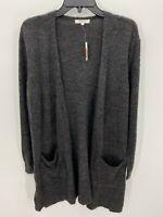 Madewell Donegal Kent Cardigan Dark Grey Womens Sweater Size S