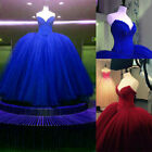 Royal Blue Quinceanera Dresses Crystal Beaded Evening Dresses Corset Ball Gowns