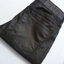 Old Navy Mid Rise Rockstar Stretch Black Jack Coated Jeans sz 6 (30x29)