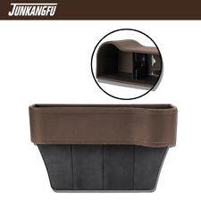 Brown Leather Console Side Pocket Organizer Cup Holder Car Seat Catcher US STOCK