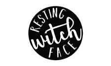 Resting Witch Face Vinyl Wall Mirror Decal Room Decor Sticker Hilarious Quote