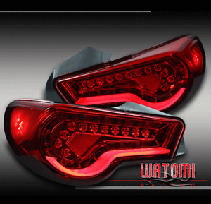 FOR 12-16 SCION FR-S/SUBARU BRZ FT86 LED BAR ALTEZZA TAIL BRAKE LIGHTS LAMPS RED