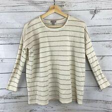 J.Jill Angora Sweater Size Xs Petite Womens Drop Sleeve Striped Wool Rabbit Hair