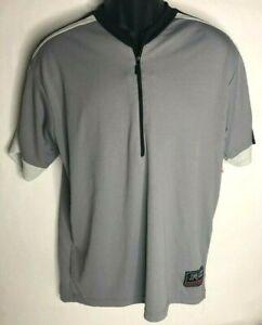 Fox Racing Mens 1/2 Zipper Leisure Cycling Jersey Gray Short Sleeve Size Medium