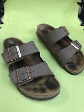Birkenstock Women's Arizona Slide Sandle- Taupe Leather Size 39 (8).