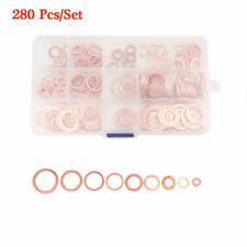 Assorted Engine Box 280 Pcs Washers Solid Copper Sump Plug Washer Box Set NEW